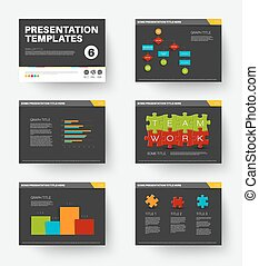 Vector Template for presentation slides 6 - Minimalistic...