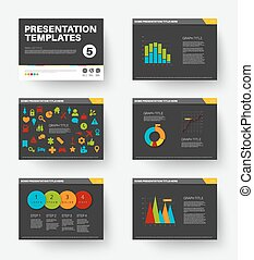 Vector Template for presentation slides 5 - Minimalistic...