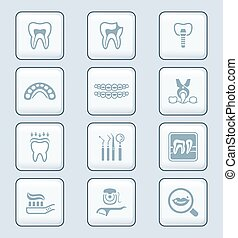 Dental icons || TECH series - Dental care tools and...