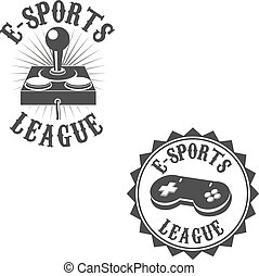 gamer - Set of gamer labels. E-sport league. Label or badge...