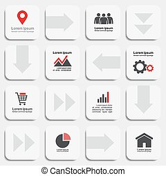 Infographic report template with place for your text. Vector