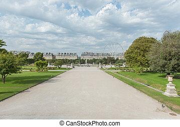 Parisian funfair - Paris during the summer with a funfair by...