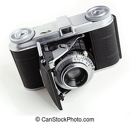 Antique 35mm film camera - An early 35mm film camera, dating...