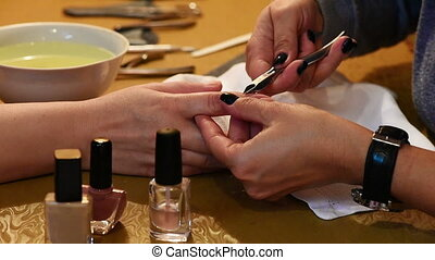 Manicure treatment Paint and polish - Nail paint and polish...