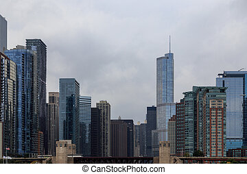 Chicago Skyscraper Cityscape - Skyscrapers against the...