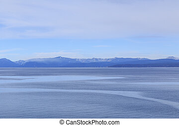 Lake Tahoe - View across the waters of Lake Tahoe from...