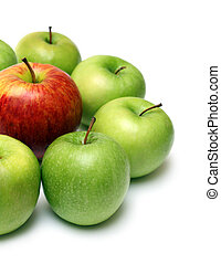 different concept with apples