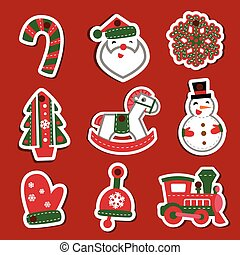 Vector Christmas tags or stickers for gifts - For...