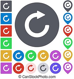 Color refresh icon set