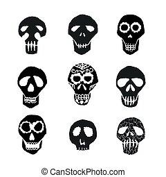 Dia de los Muertos mexican sugar skulls set - Mexican sugar...