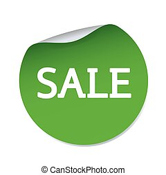 Green vector sticker SALE
