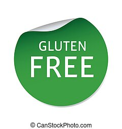 Green vector sticker GLUTEN FREE