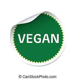 Green vector sticker VEGAN