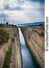 Corinth channel, Greece - Travel destination in Greece,...