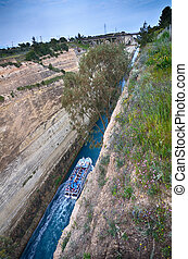 Corinth channel, Greece - Travel destination in Greece,...