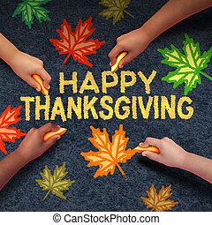 Happy Thanksgiving Day - Happy thanksgiving day concept as a...