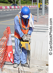 Street Worker in Dubai, United Arab Emirates