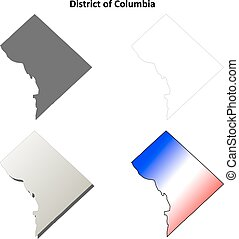 District of Columbia outline map set - District of Columbia...