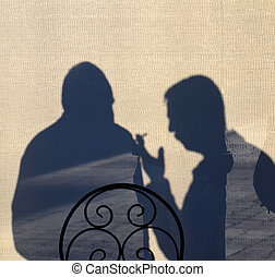 Silhouette of a Men in discussion