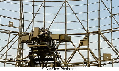 military radar station, antenna - military radar station,...