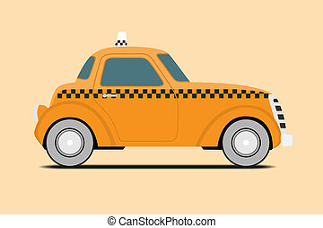 Vintage Taxi. - Vintage Taxi car image. Isolated,...