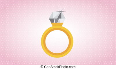 Ring as a sign of love, video animation, hd 1080