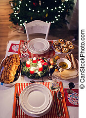 Christmas meal on a table - Christmas meal laid on a table...