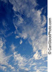 Beautiful Cirrus Clouds in Blue Sky - Beautiful wispy cirrus...