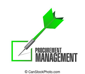 Procurement Management check dart sign concept illustration...
