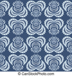 seamless blue pattern - Art seamless blue pattern Isolated...