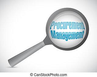 Procurement Management review sign concept illustration...