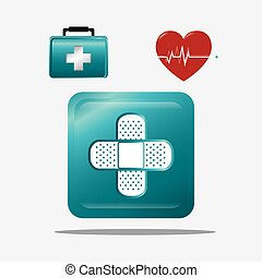 Medical healthcare graphic design with icons