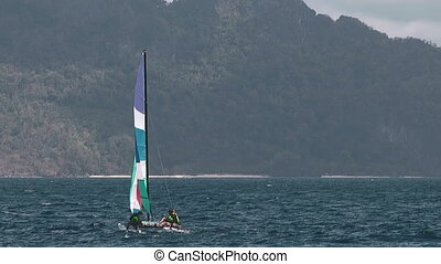 Sailboat near El Nido , Philippines