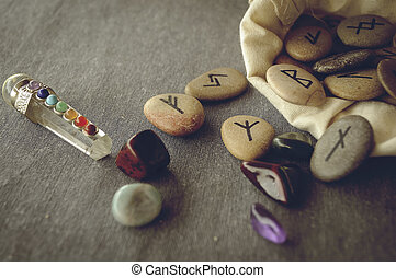 runes and tarot cards - divination and prediction on runes...