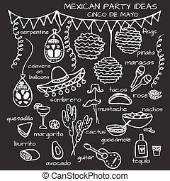 Mexican party ideas, cinco de mayo elements