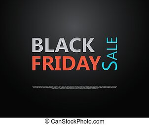 Black Friday sale Paper cut lettering at dark gloss paper