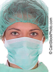 healthcare worker - Details an healthcare worker in close up...