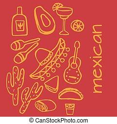 Mexican elements, cinco de mayo elements, mexico fiesta