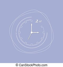 Abstract clock isolated on background Vector illustration