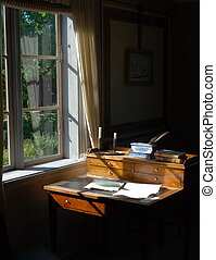 Waiting for writer - Skansen in Stockholm The old house