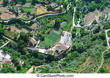 Top view of a village in Andalusia
