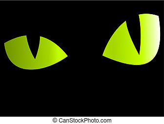 Eyes - Vector background - Mysterious eyes looking from the...