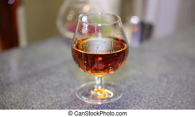 A Glass of Brandy Take in Hand Barstand