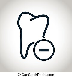 Tooth extraction icon Black flat icon isolated on a white...