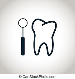 Tooth checkup icon