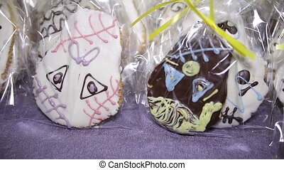 Sweet Cakes for Halloween, on The Table in Bags