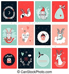Christmas New Year card collection