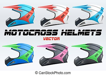 Set of Original Motorcycle Helmets Extreme enduro motocross...