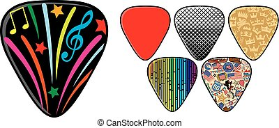 guitar picks or plectrums