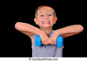 Health And Fitness Boy - A Young boy fitness training with...